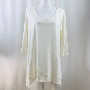 NEW LOGO Instant Chic by Lori Goldstein Tunic Top